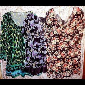 3 ladies blouses 3X